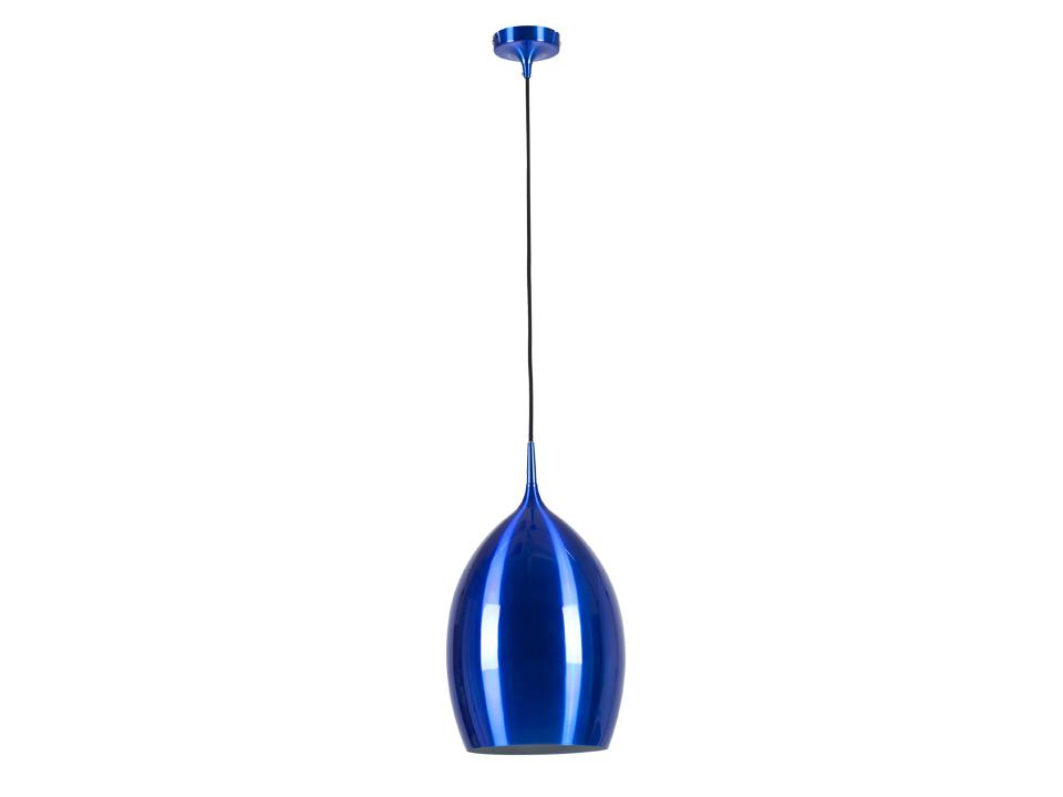 Cветильник Blue CupСветильники подвесные<br>Синий глянцевый подвесной светильник с внутренней частью белого цвета. Цоколь лампы: Е27.<br>