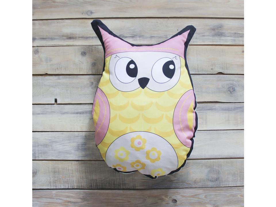 Игрушка Yellow OwlВигвамы<br>Декоративная игрушка - подушка ручной работы из экологичных материалов.<br>