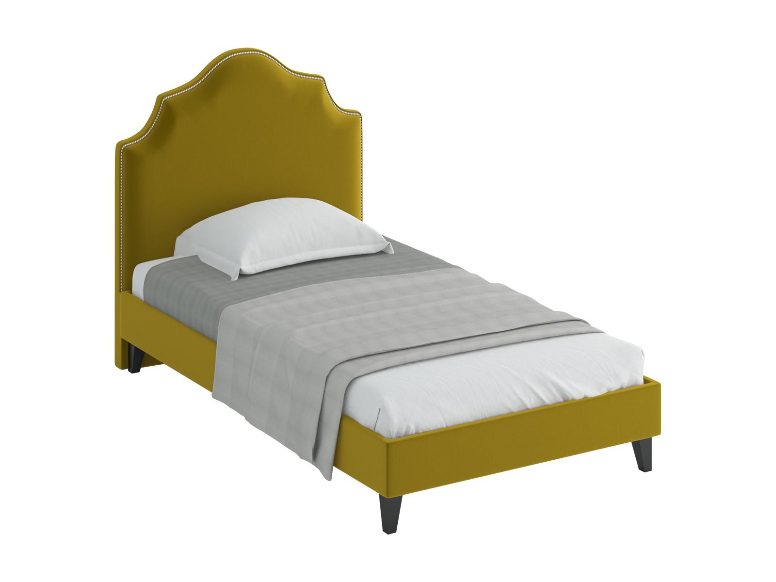 Кровать Princess LКровати<br>Кровать односпальная. Спинка кровати декорирована молдингом, установлена на пластмассовые опоры. Основание установлено на ножки из массива дерева и обрамлено мягкими царгами.  Размер спального места: 1200х2000 мм.<br>