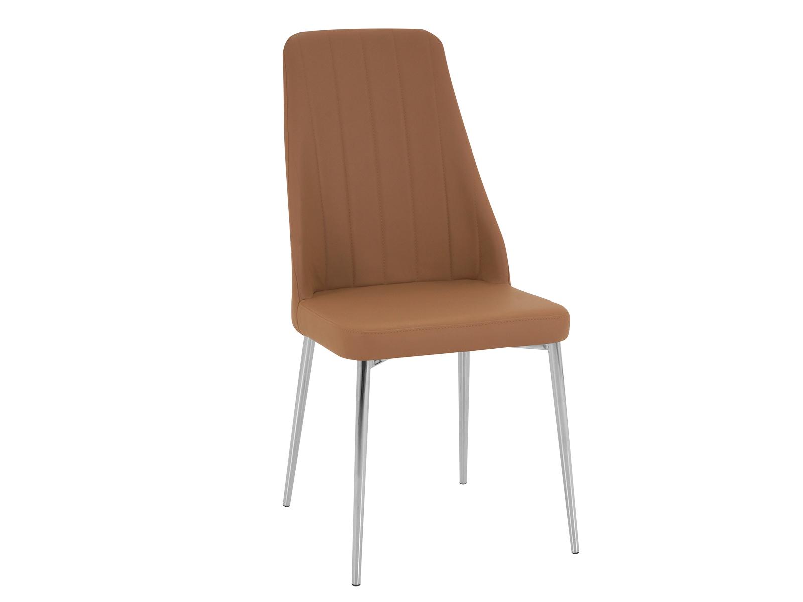 Стул ShermanСтулья<br>Стул на металлокаркасе, спинка и сиденье обиты экокожей. Спинка оформлена декоративной строчкой.<br>