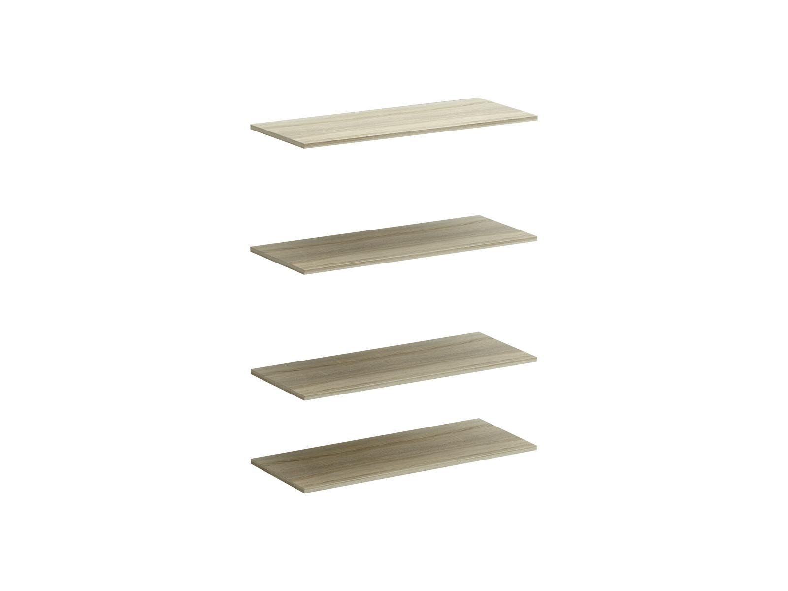 Полки для шкафа ReinaОсновной раздел каталога<br>Комплект из 4 полок для двухдверного шкафа Reina<br>