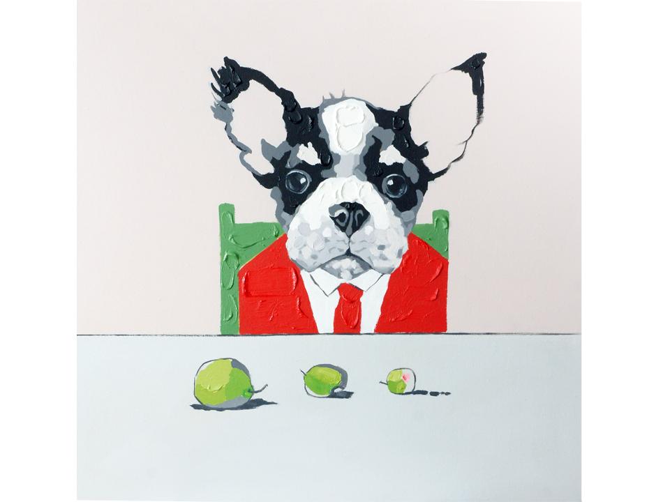 Холст Dog &amp; applesХолсты<br>Холст на деревянной раме выполнен с применением масляных красок.<br>