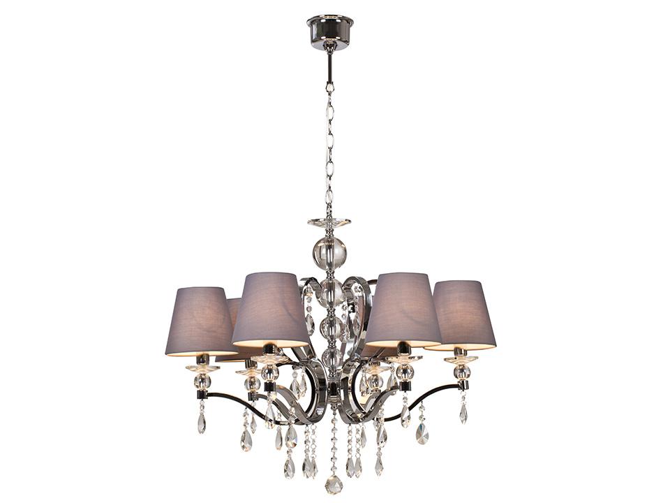 Люстра VertexСветильники подвесные<br>Люстра 6-рожковая, декорирована стеклянными элементами. Цоколь лампы: E14<br>