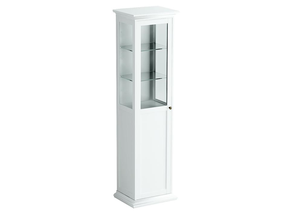 Шкаф-витрина однодверныйШкафы<br>Шкаф-витрина состоит из одного отделения за распашной дверцей. Внутри расположена одна стационарная полка и четыре съёмные полки для хранения вещей.<br>