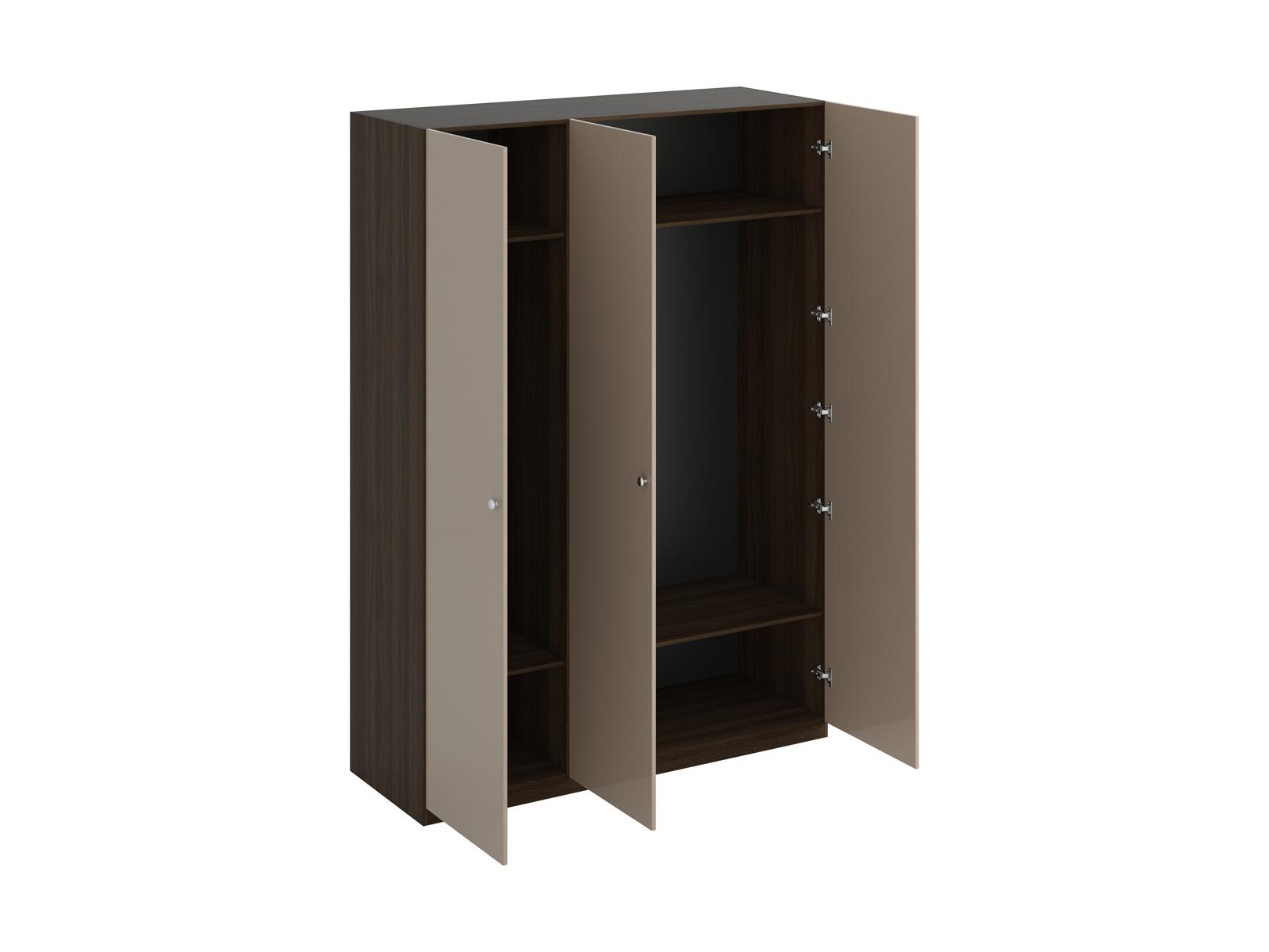 Шкаф Uno Ш3Шкафы<br>Шкаф трёхдверный имеет два отделения. Правое отделение всегда широкое, левое – узкое. В отделениях расположены верхние стационарные и нижние съемные полки. Шкаф установлен на регулируемые опоры. Данную мебель рекомендуется крепить к стене. Ручки и внутрен...<br>