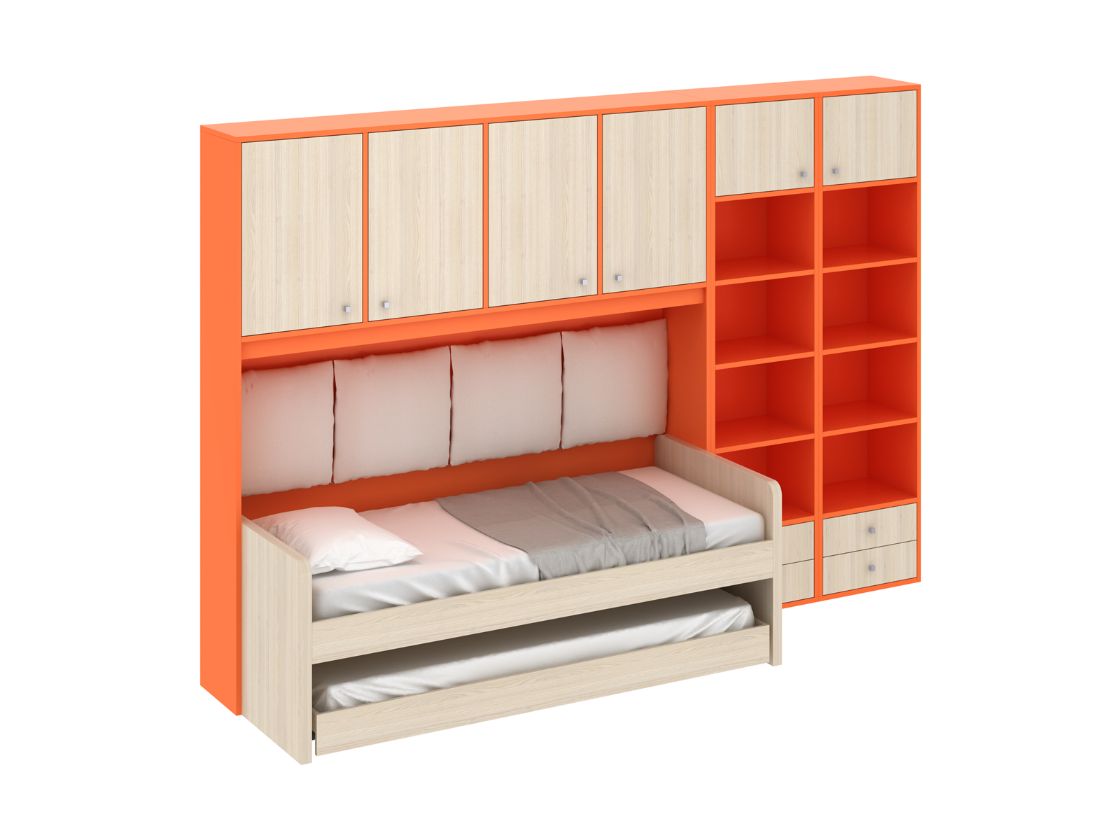 Композиция Pinokkio 3Основной раздел каталога<br>Широкий ассортимент модулей и яркий выбор цветов корпусов и фасадов. В коллекции ипользуется фурнитура производства Италии.<br>