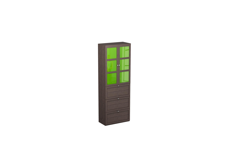 Шкаф двойной NoireШкафы<br>Шкаф с тремя ящиками снизу и двумя распашными дверцами сверху, за которыми находятся 6 отделений для хранения.<br>