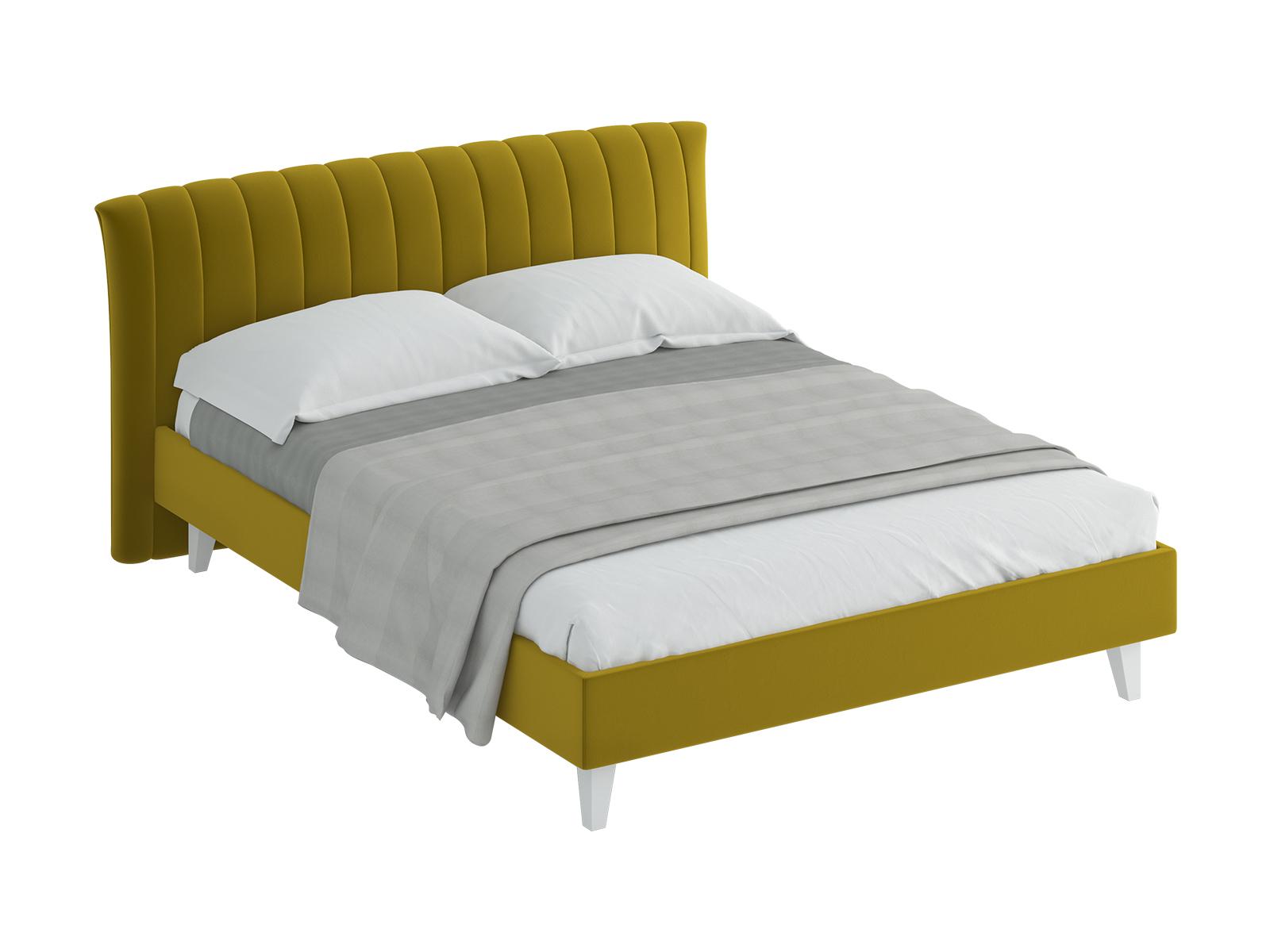 Кровать Queen Anastasia LКровати<br>Кровать двуспальная.  Спинка кровати оформлена декоративной строчкой. Основание установлено на ножки из массива дерева и обрамлено мягкими царгами. Размер спального места: 1600х2000 мм.<br>