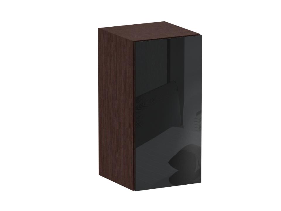 Пенал CuboШкафы<br>Шкаф-пенал с одним отделением за распашной дверью. Наполнение шкафа - одна полка. В комплекте идут щитовая и стеклянная полки. Дверь открывается по принципу «нажал-открыл». Пенал крепится к стене.<br>