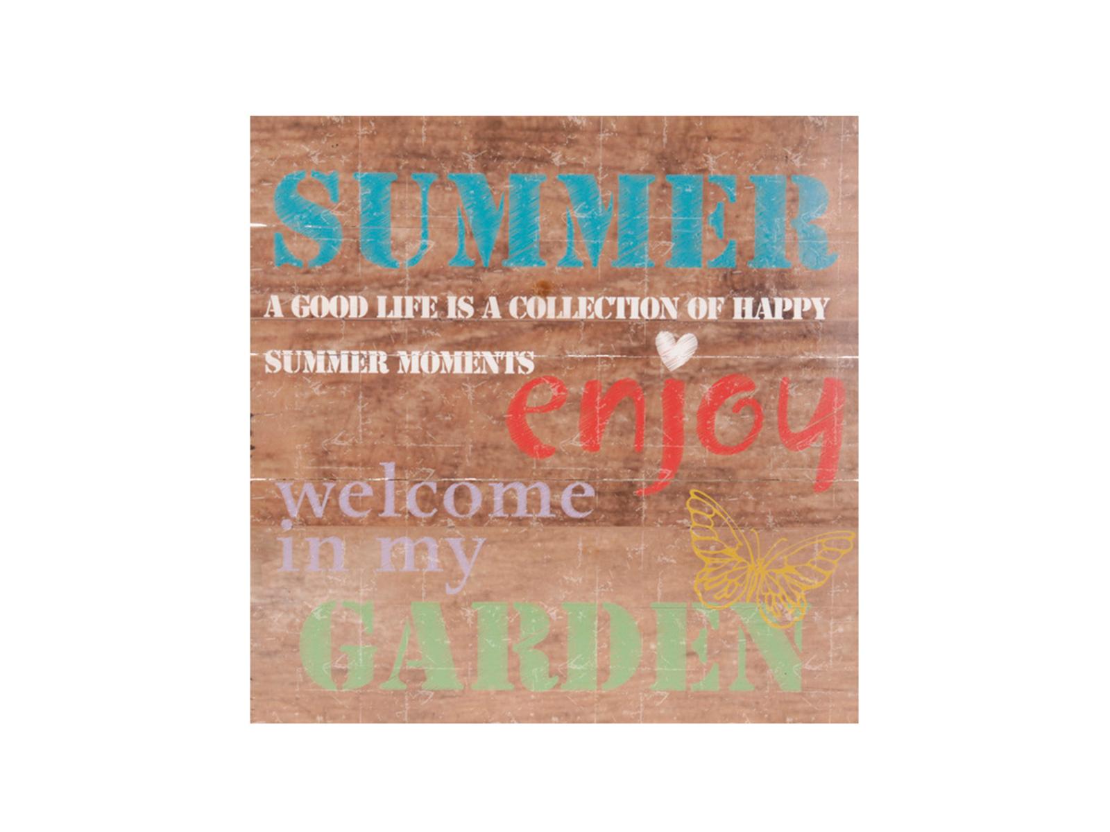 Постер SummerПостеры<br>Постер  на деревянной основе Summer<br>