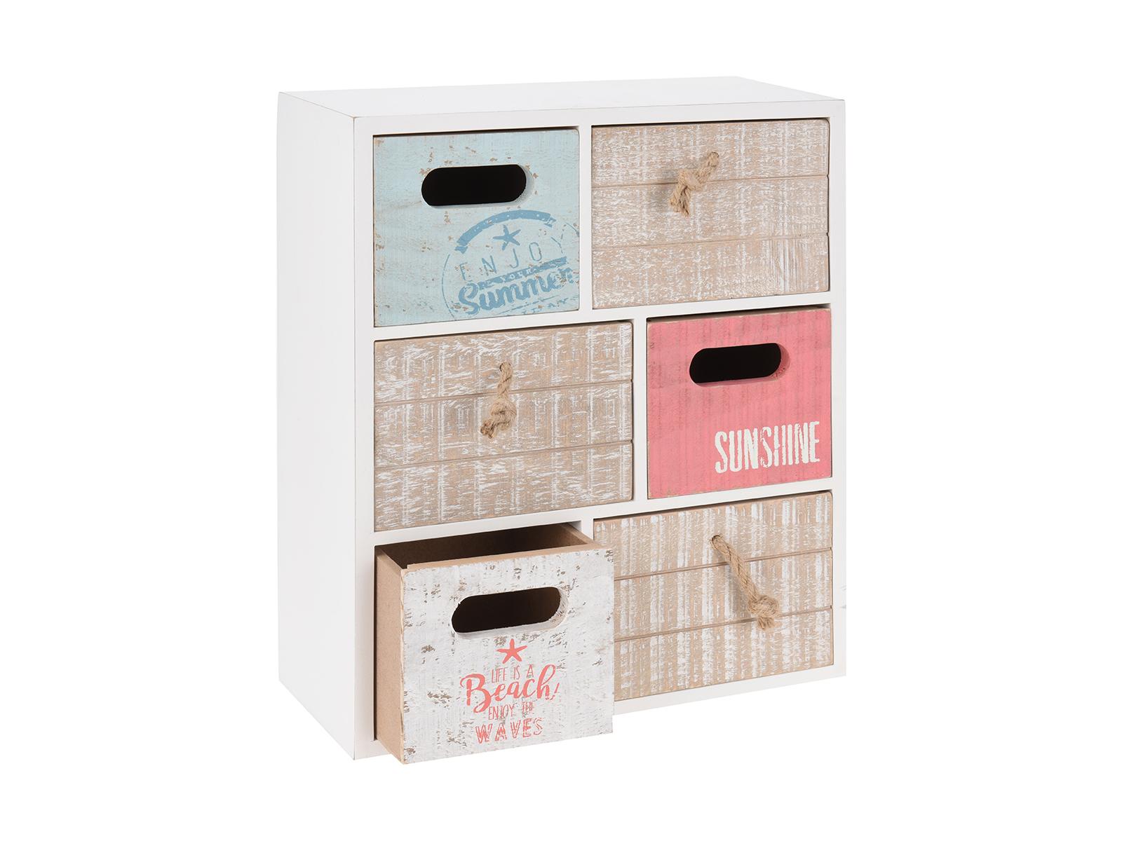 Шкатулка Hot SummerХранение<br>Шкатулка для украшений деревянная с 6 ящиками<br>