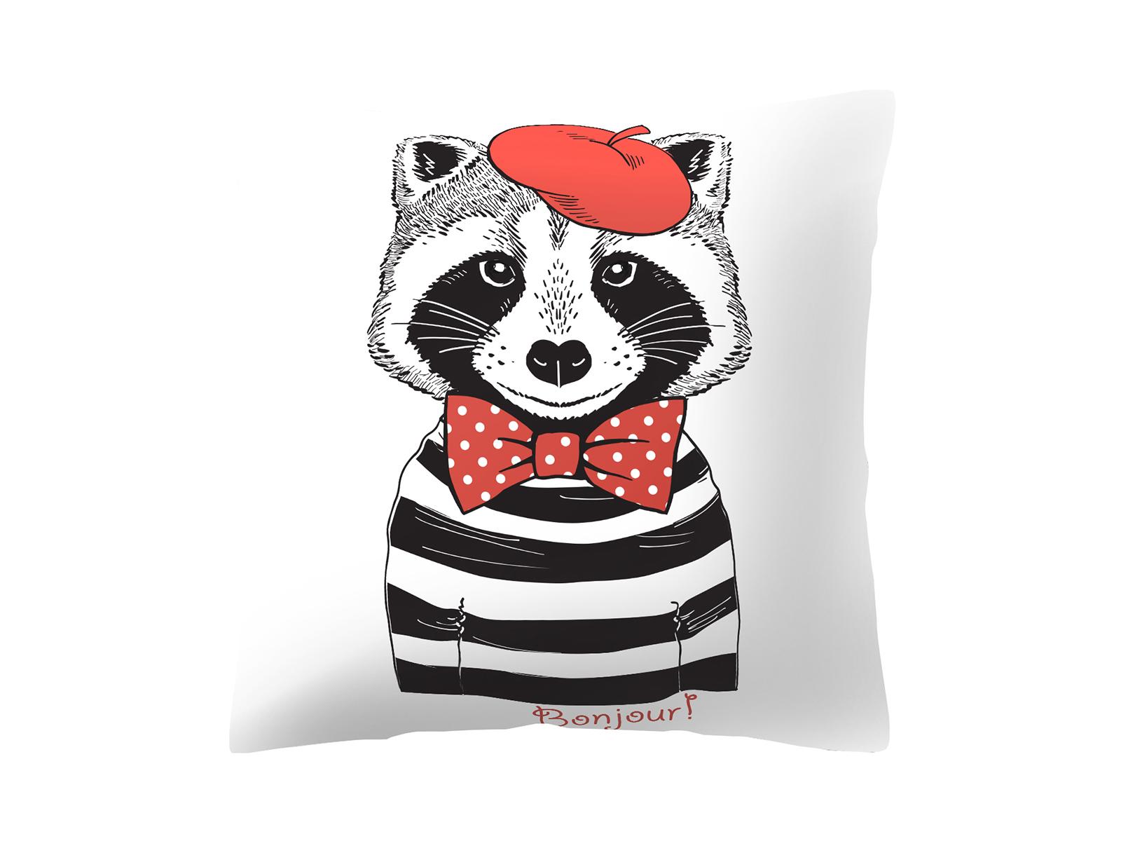 Подушка RaccoonДекоративные подушки<br>Декоративна подушка со съемным чехлом<br>