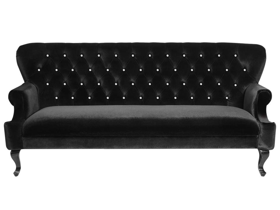 Диван RegentДиваны и кушетки<br>Классический трехместный диван, без механизма транcформации. Спинка прошита стразами.<br>