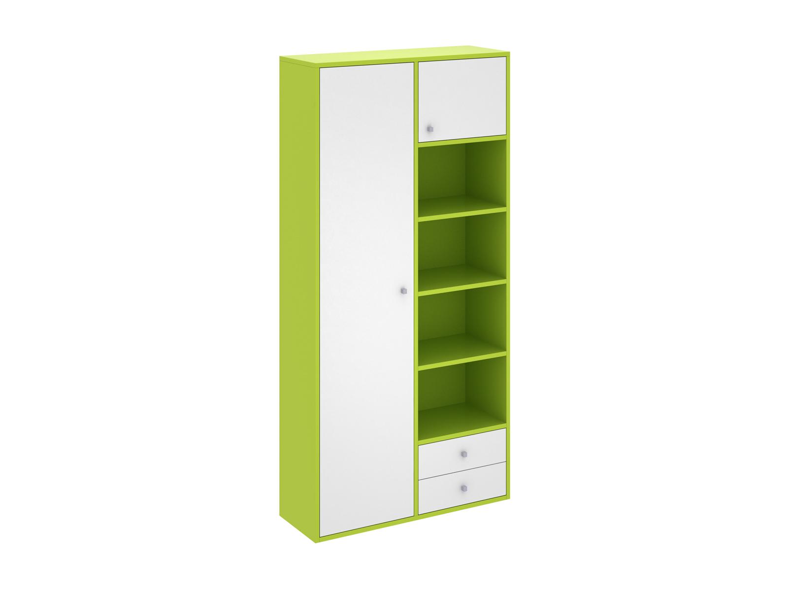 Шкаф PinokkioШкафы<br>Шкаф комбинированный имеет два отделения. В первом отделении расположены полки. Во втором - выдвижная штанга для одежды. Данный шкаф выполнен в левостороннем исполнении.<br>