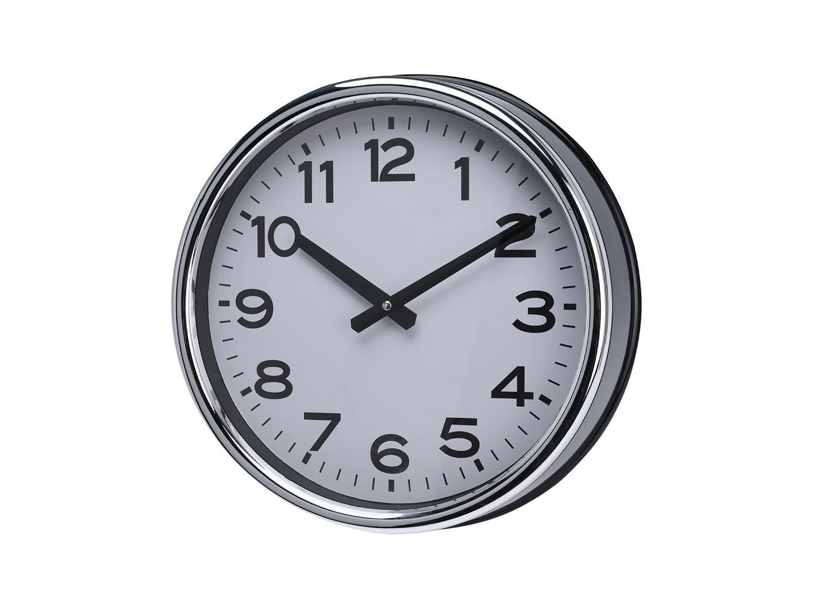 Часы SimplicityЧасы<br>Часы настенные в металлическом корпусе, электромеханические<br>