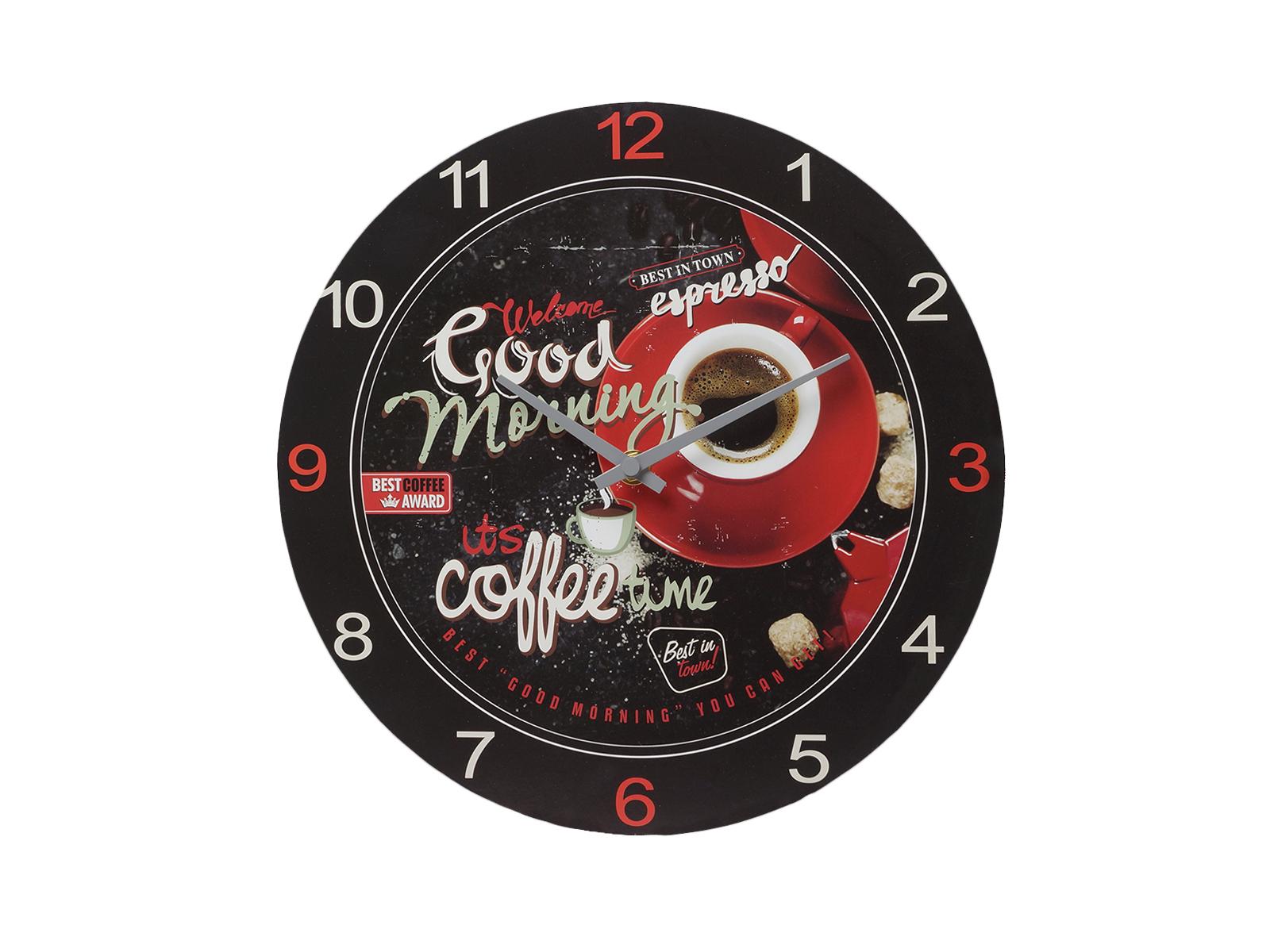 Часы Coffee cornerЧасы<br>Часы  настенные в деревянном корпусе, электромеханические<br>
