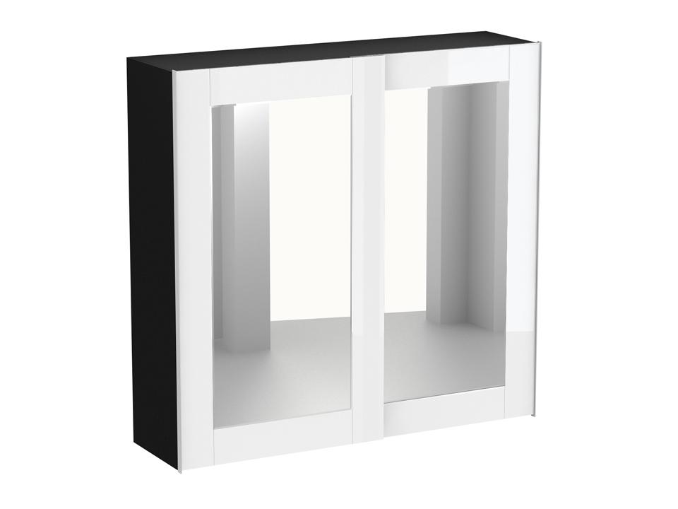 Шкаф KristalШкафы<br>Шкаф-купе декорирован зеркалами и окрашенным стеклом. Шкаф имеет четыре отделения, в которых установлена штанга под длинную одежду, две штанги под короткую одежду и щитовые полки. В шкаф дополнительно устанавливаются выдвижные элементы: - галстукодержател...<br>