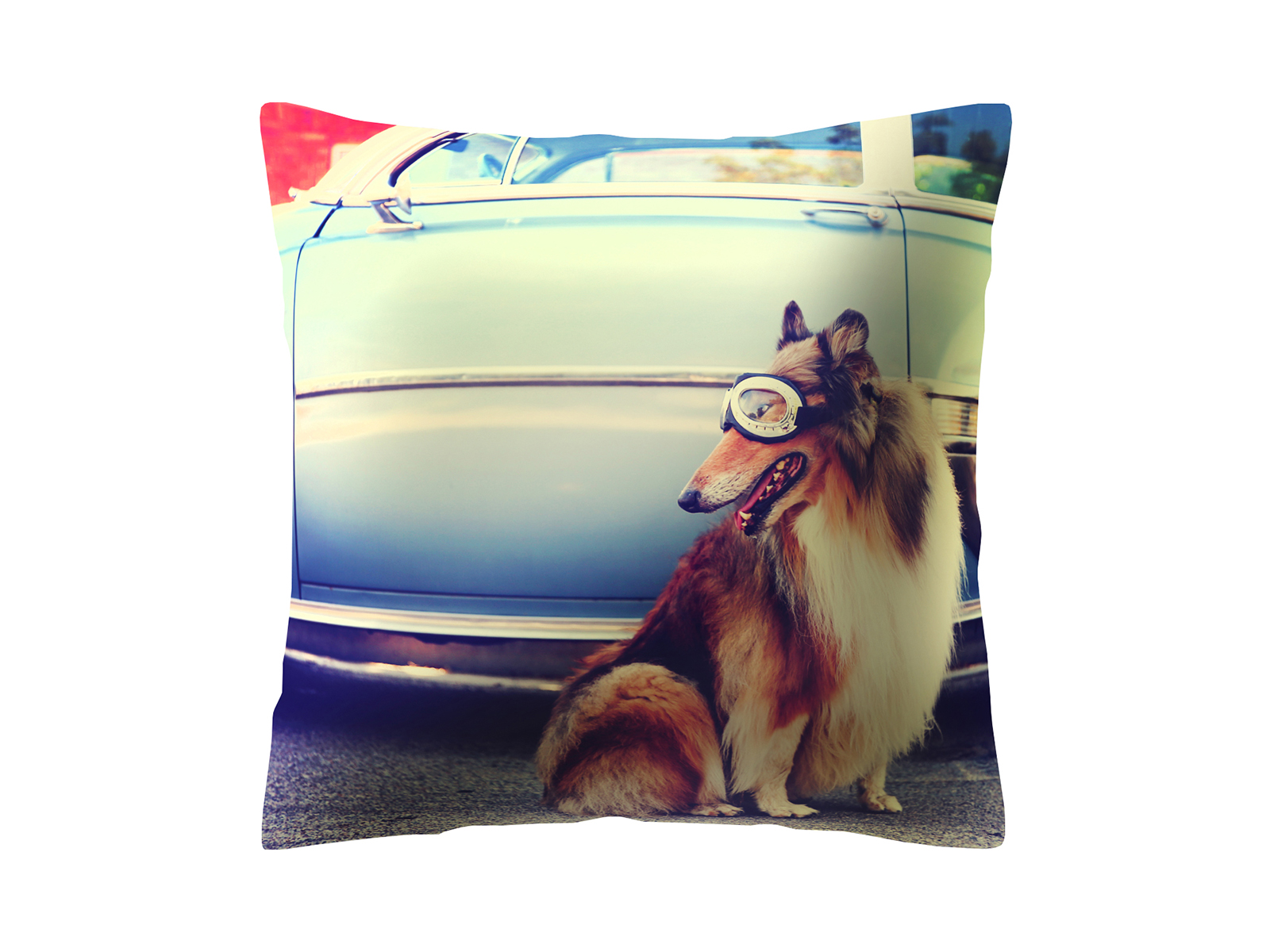 Подушка DogДекоративные подушки<br>Декоративная подушка со съемным чехлом<br>