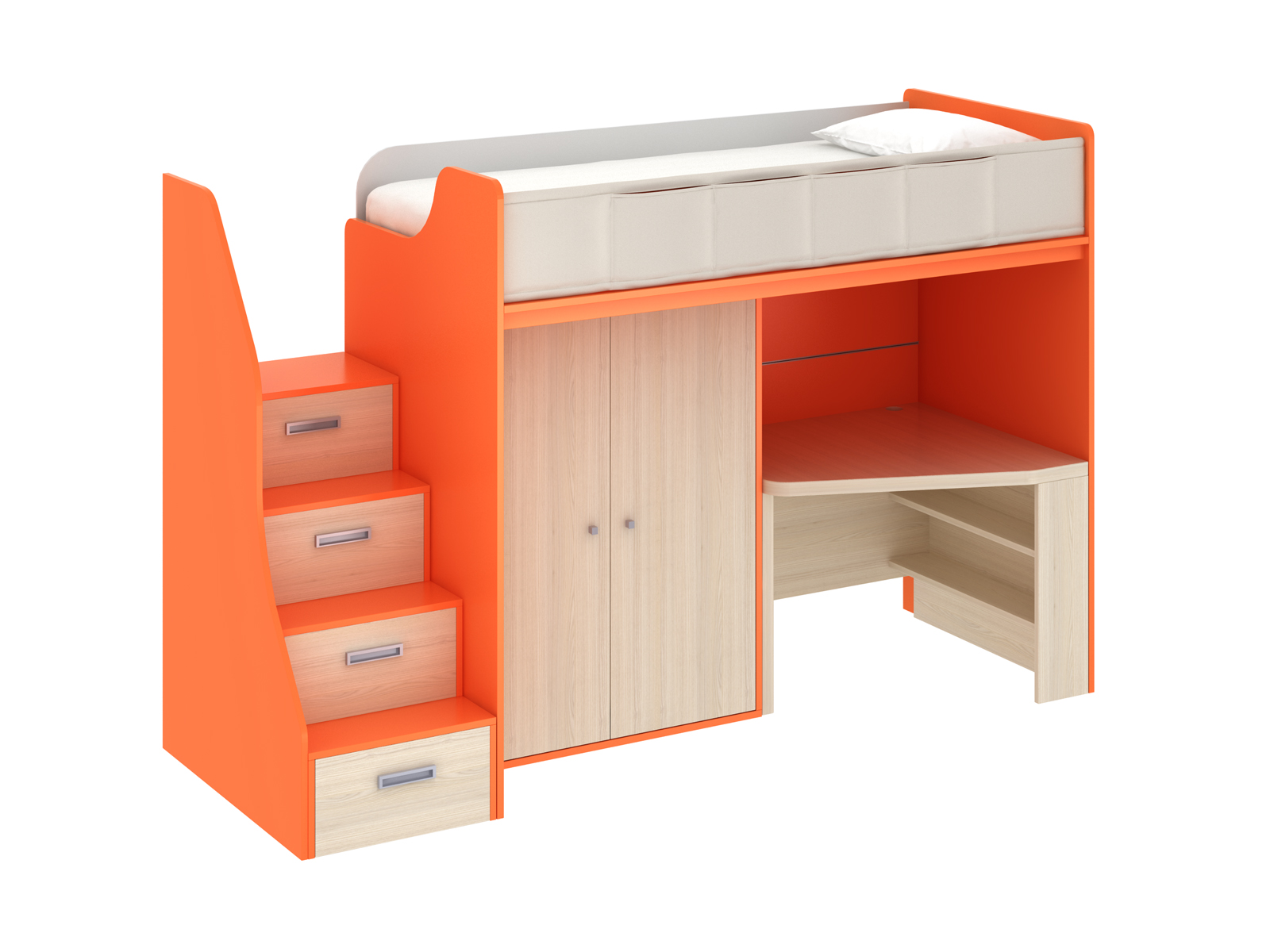 Композиция Pinokkio 2Основной раздел каталога<br>Широкий ассортимент модулей и яркий выбор цветов корпусов и фасадов. В коллекции ипользуется фурнитура производства Италии.<br>
