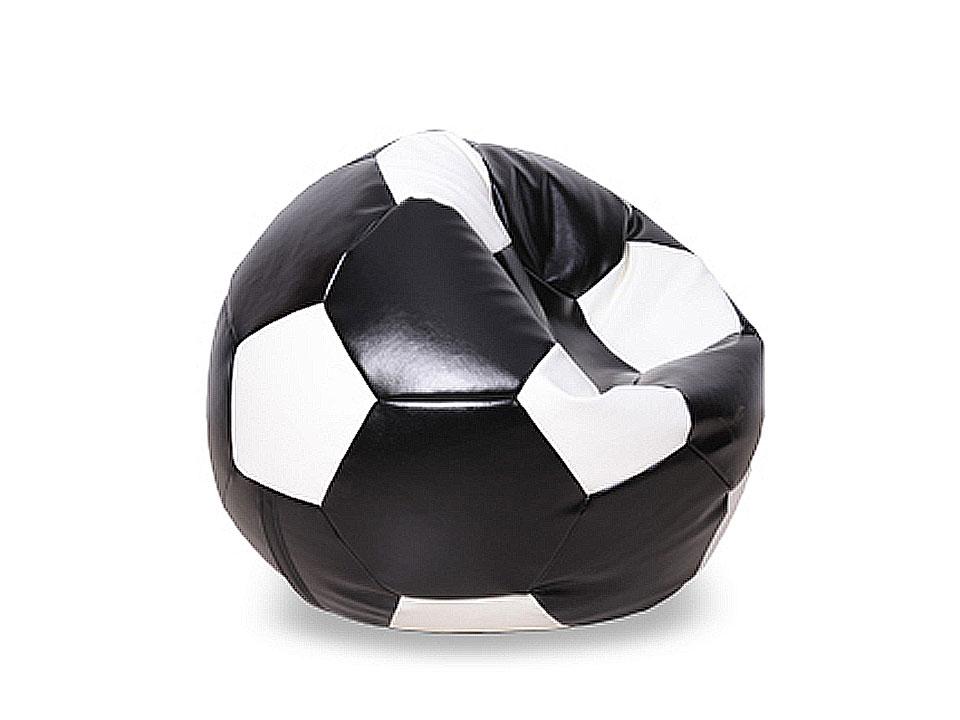 Пуф FootballПуфы<br>Пуф бескаркасный в форме футбольного мяча. Предусмотрена возможность дополнительной засыпки наполнителя, для этого имеется специальный клапан.<br>