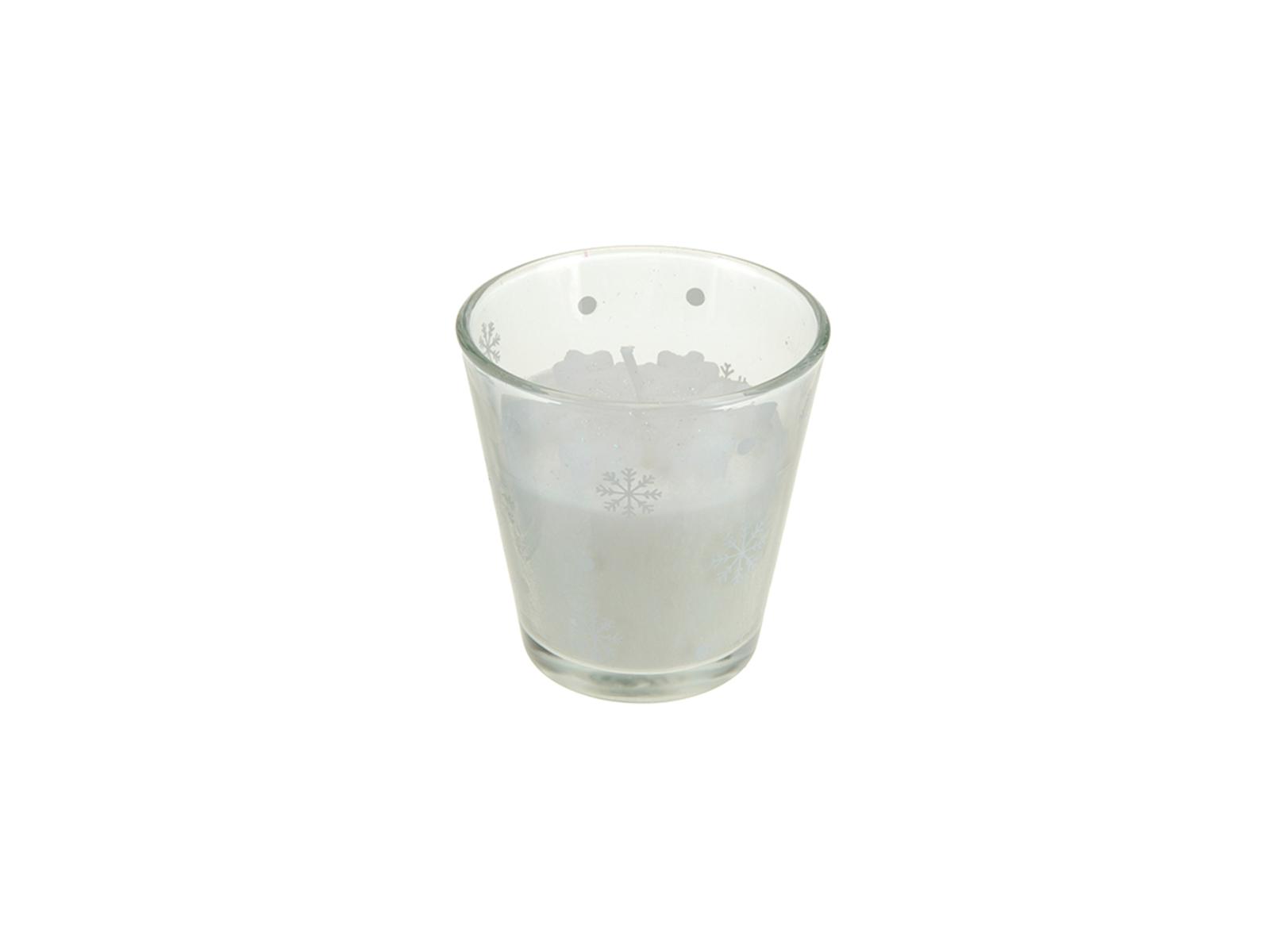 Свеча SnowflakeСвечи и подсвечники<br>Свеча в стеклянном стакане<br>