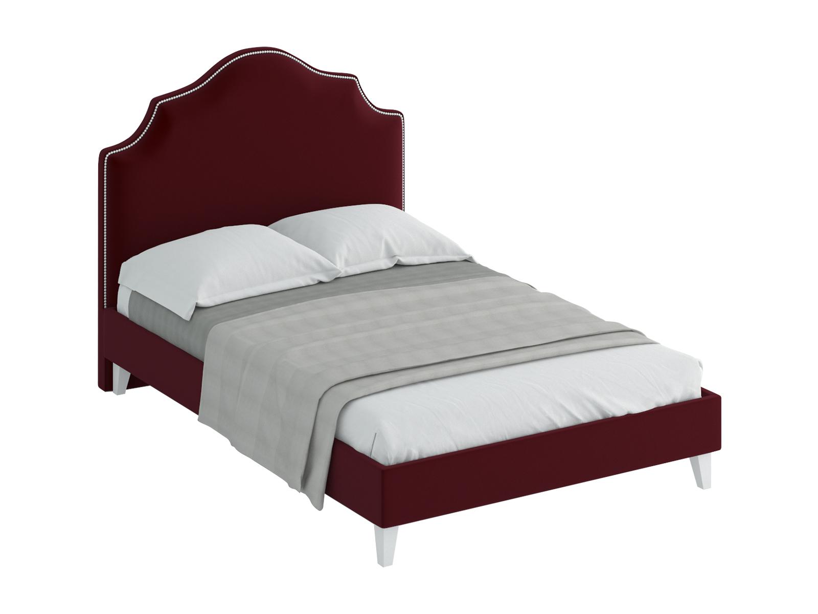 Кровать Queen Victoria LКровати<br>Кровать двуспальная.  Спинка кровати декорирована молдингом, установлена на пластмассовые опоры. Основание установлено на ножки из массива дерева и обрамлено мягкими царгами. Размер спального места: 1400х2000 мм.<br>