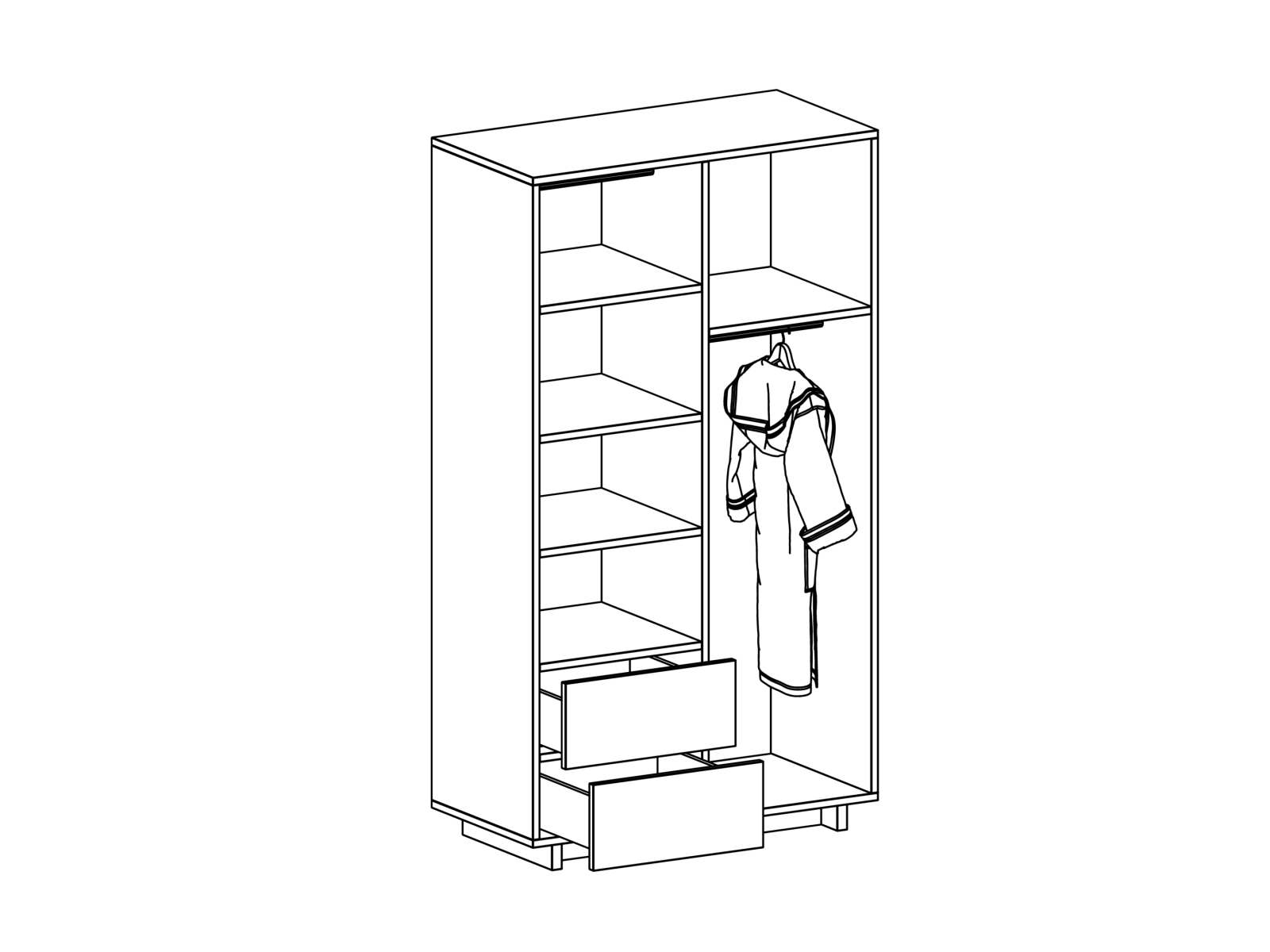 Шкаф Line 2-дверный