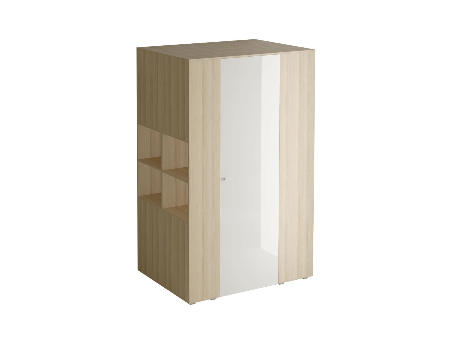Шкаф-гардероб PlayШкафы<br>Шкаф-гардероб представляет собой многоцелевой шкаф для хранения одежды, обуви, книг, аксессуаров и других вещей. С  торца шкафа есть открытое отделение с полками. В нижней части находится панель для примыкания кровати или стола. Во внутреннем отделении шк...<br>