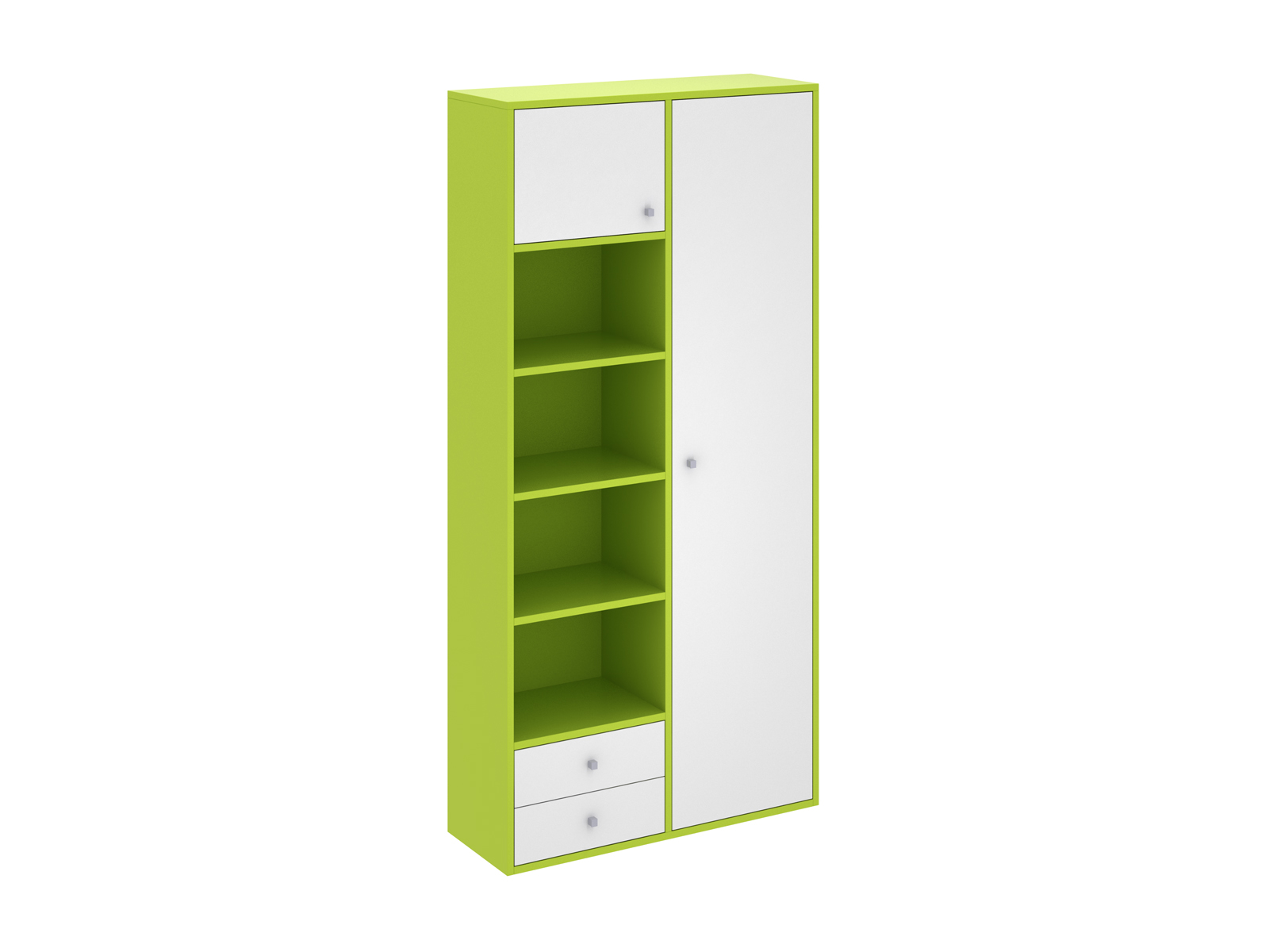 Шкаф PinokkioШкафы<br>Шкаф комбинированный имеет два отделения. В первом отделении расположены полки. Во втором - выдвижная штанга для одежды. Данный шкаф выполнен в правостороннем исполнении.<br>