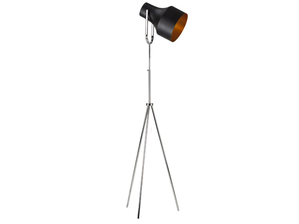 Светильник GuardСветильники напольные<br>Напольный светильник с хромированными ножками и черно-золотым плафоном. Цоколь лампы: Е27.<br>