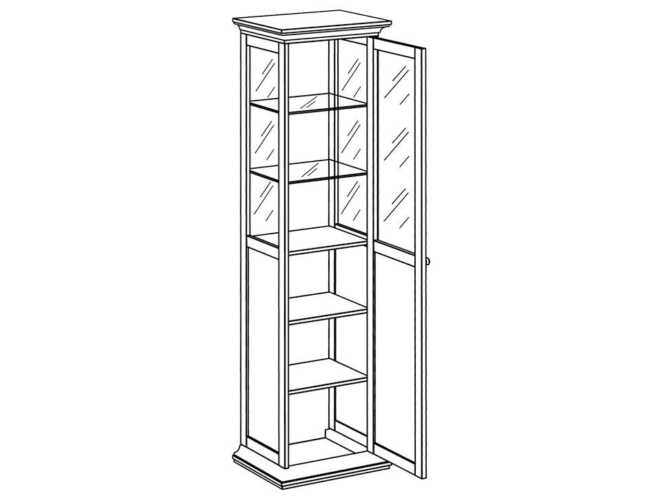 Шкаф-витрина однодверный