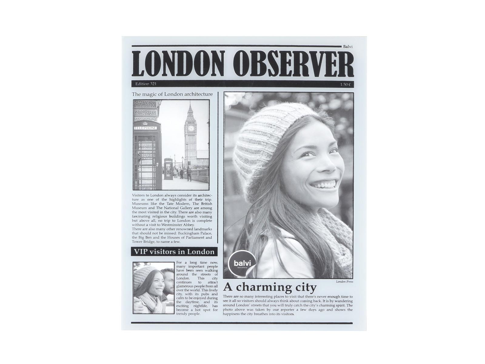 Фоторамка London ObserverФоторамки<br>Фоторамка настольная, 15x20 см<br>