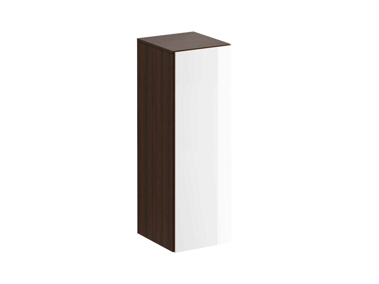 Шкаф навесной GustoШкафы<br>Шкаф имеет три отделения, образованные двумя съемными полками с возможностью переустановки по высоте. Распашная дверь открывается по принципу «нажал-открыл». Задняя стенка черного цвета.<br>