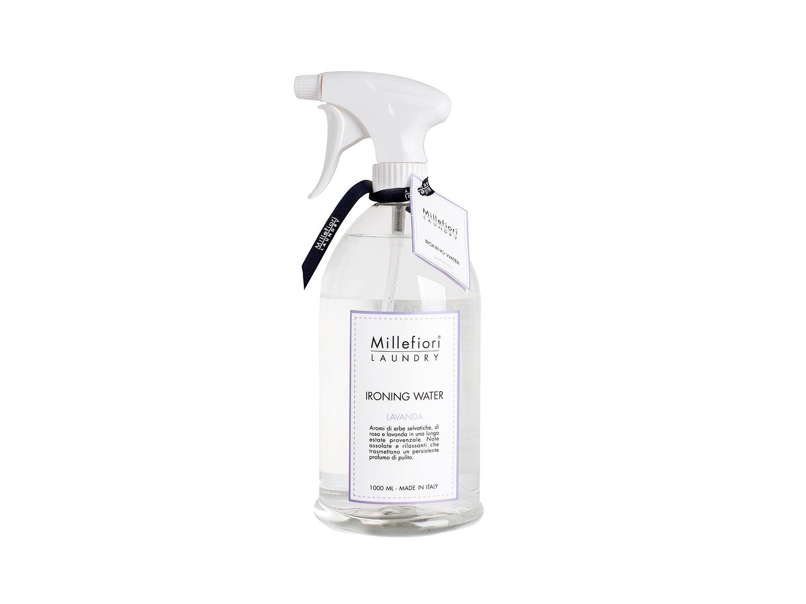 Парфюмированная вода LavandaАроматы для дома<br>Парфюмированная вода для отглаживания Лаванда, поможет придать Вашему белью любимый аромат. Стильный прозрачный флакон с дозатором спреем.<br>
