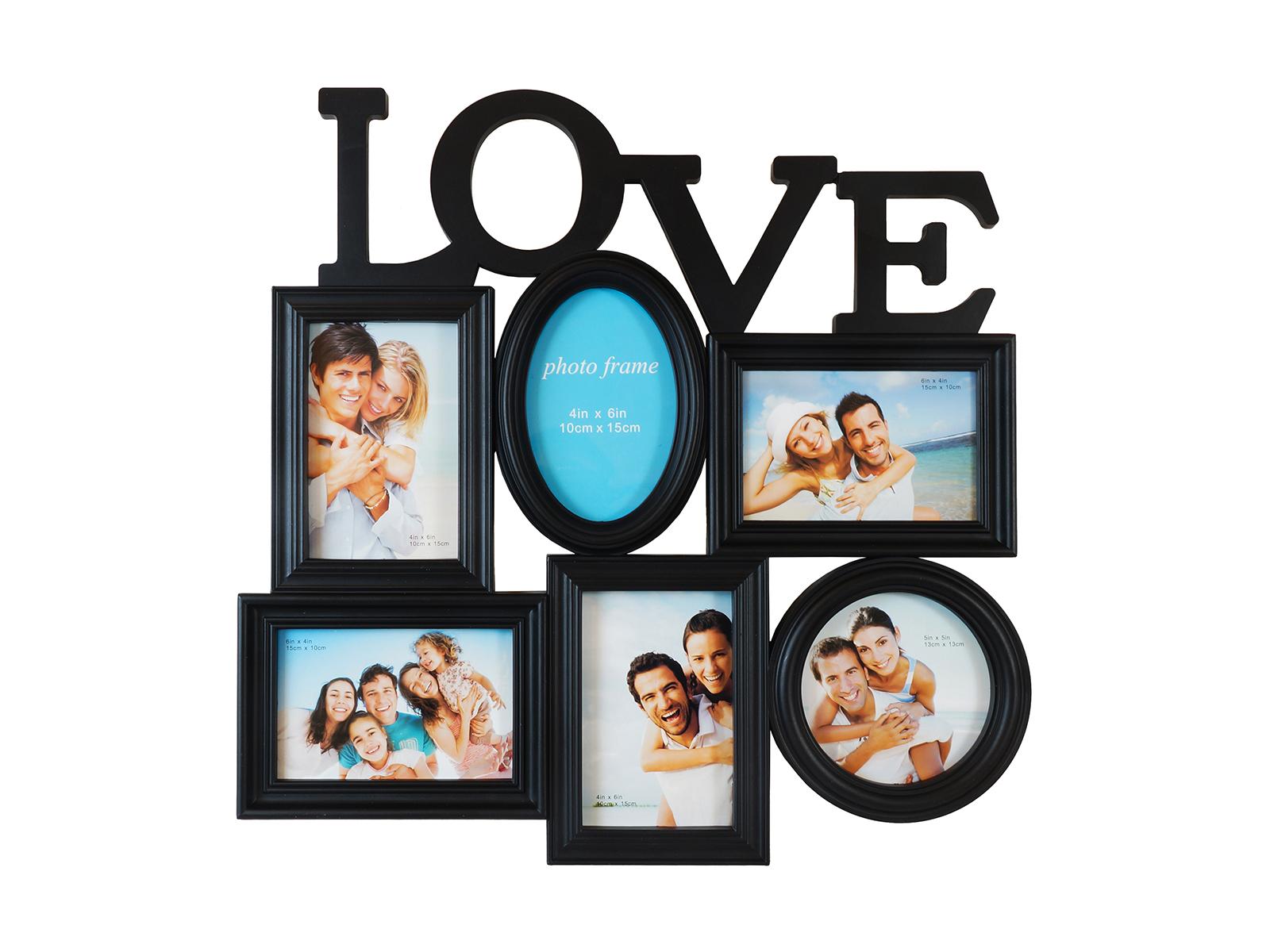 Фоторамка LoveФоторамки<br>Рамка для 6-ти фотографий, подвесная<br>