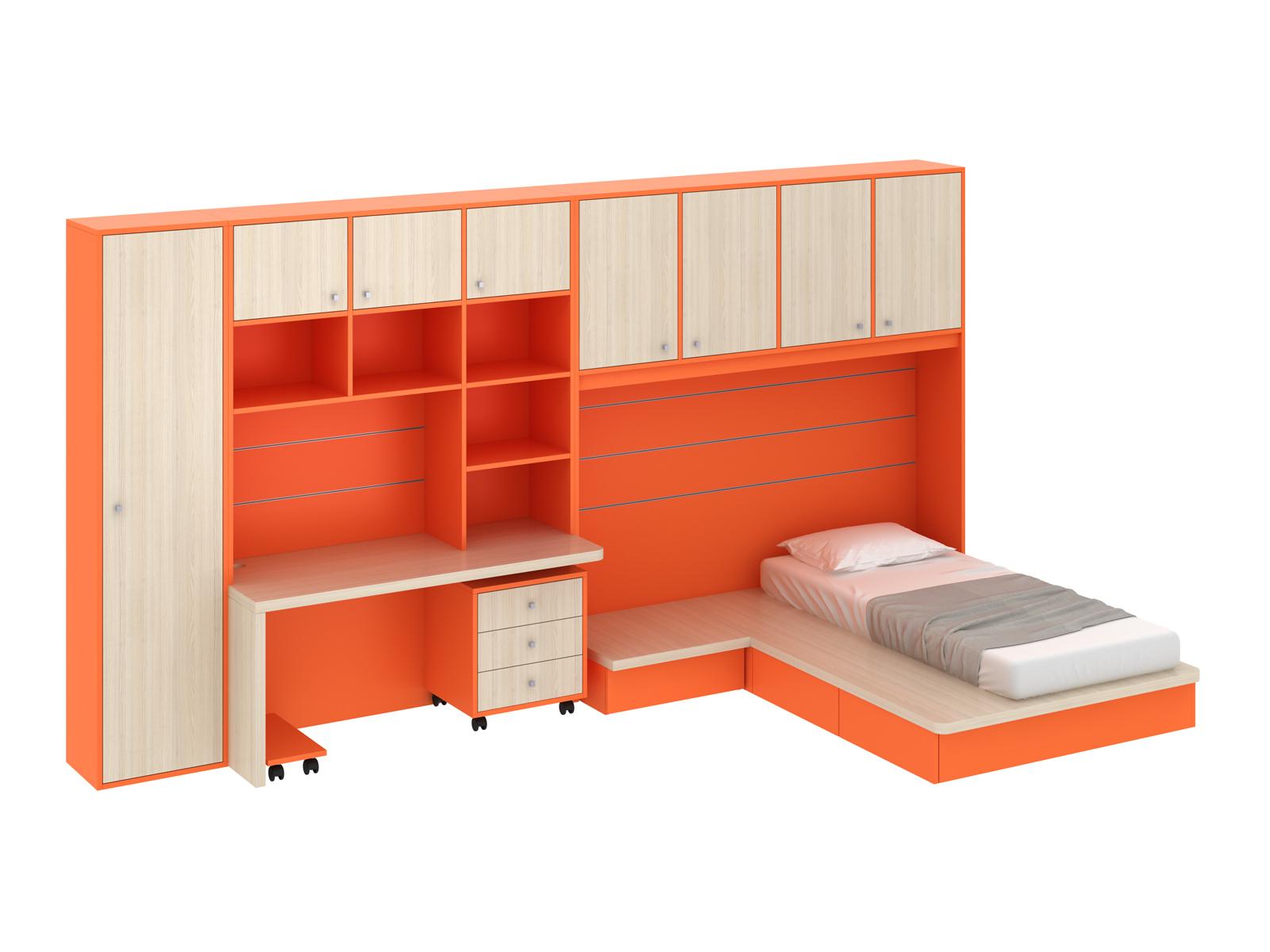 Композиция Pinokkio 7Основной раздел каталога<br>Широкий ассортимент модулей и яркий выбор цветов корпусов и фасадов. В коллекции ипользуется фурнитура производства Италии.<br>