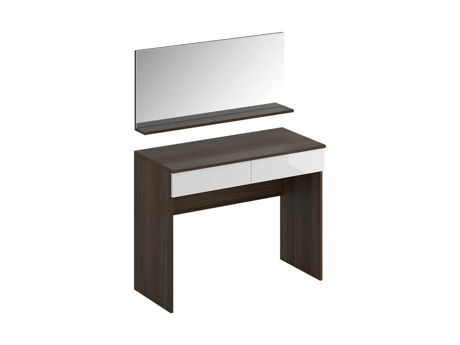 Туалетный столик с зеркалом UnoТуалетные столики<br>Туалетный столик с двумя выдвижными ящиками и зеркалом<br>