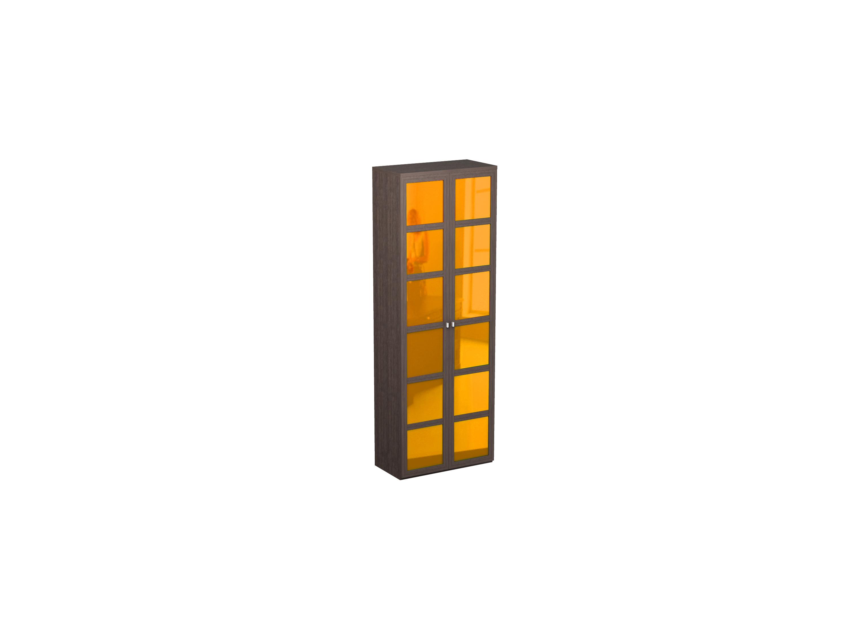 Шкаф двойной NoireШкафы<br>Шкаф для одежды с полкой для головных уборов и выдвижной штангой.<br>