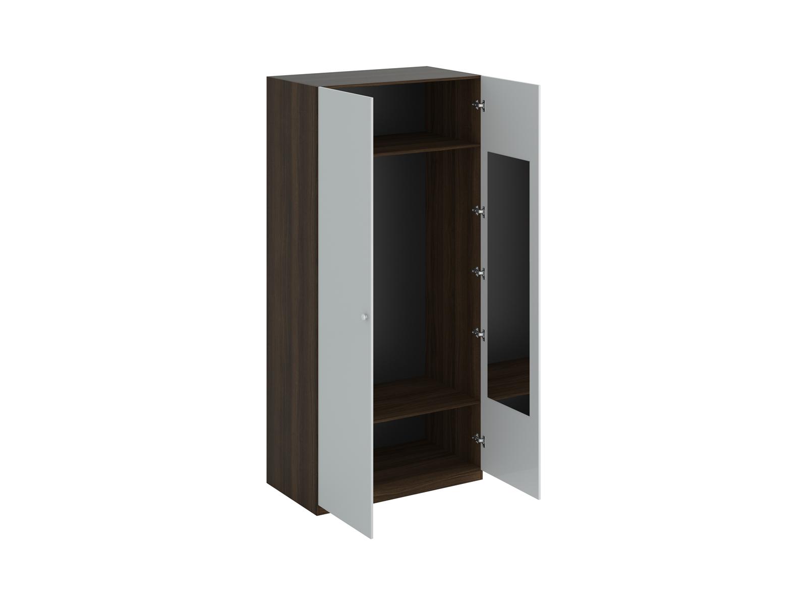 Шкаф Uno Ш2зШкафы<br>Шкаф двухдверный с одной стационарной верхней и одной съемной нижней полками. На одной дверце шкафа с внутренней стороны расположено зеркало. Установлен на регулируемые опоры. Данную мебель рекомендуется крепить к стене. Ручки и внутренние элементы продаю...<br>