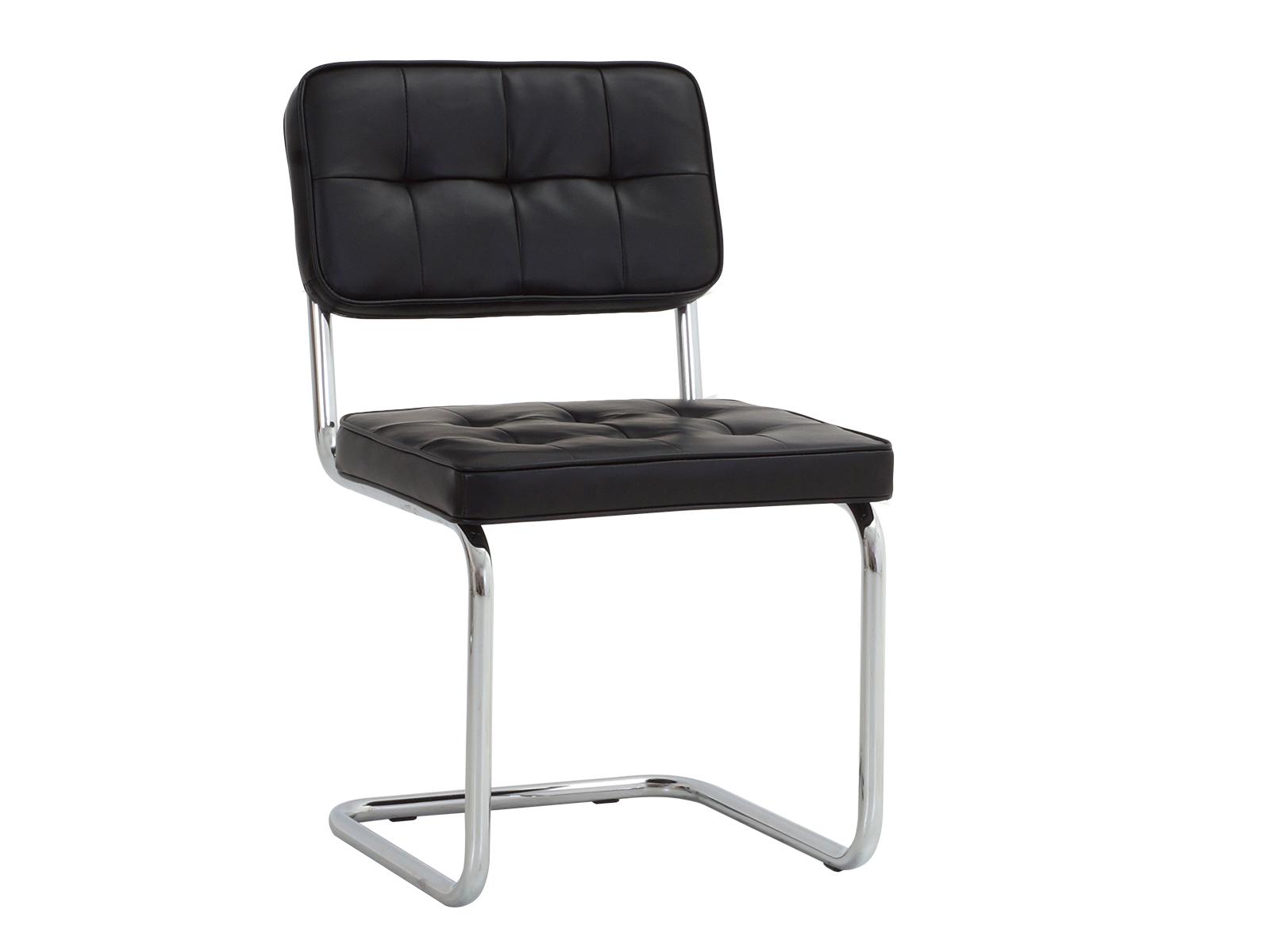 Стул Glen BСтулья<br>Стул на металлокаркасе, спинка и сиденье обиты экокожей с декоративной строчкой.<br>