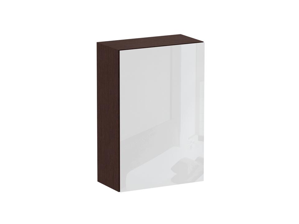 Шкаф CuboШкафы<br>Шкаф с двумя отделениями за одной распашной дверью: в левом отделении - щитовые полки, в правом - выдвижная штанга. Дверь открывается по принципу «нажал-открыл». Шкаф крепится к стене.<br>