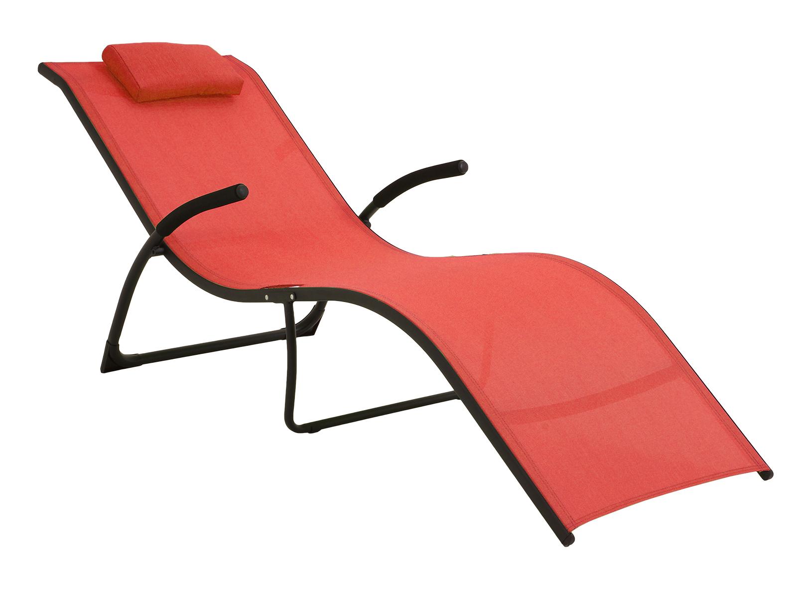 Шезлонг SunnyЛежаки и шезлонги<br>Удобный, раскладной шезлонг с сиденьем из текстилена.<br>