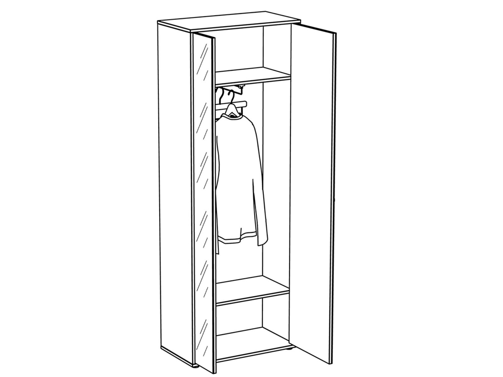 Шкаф двухдверный Latte