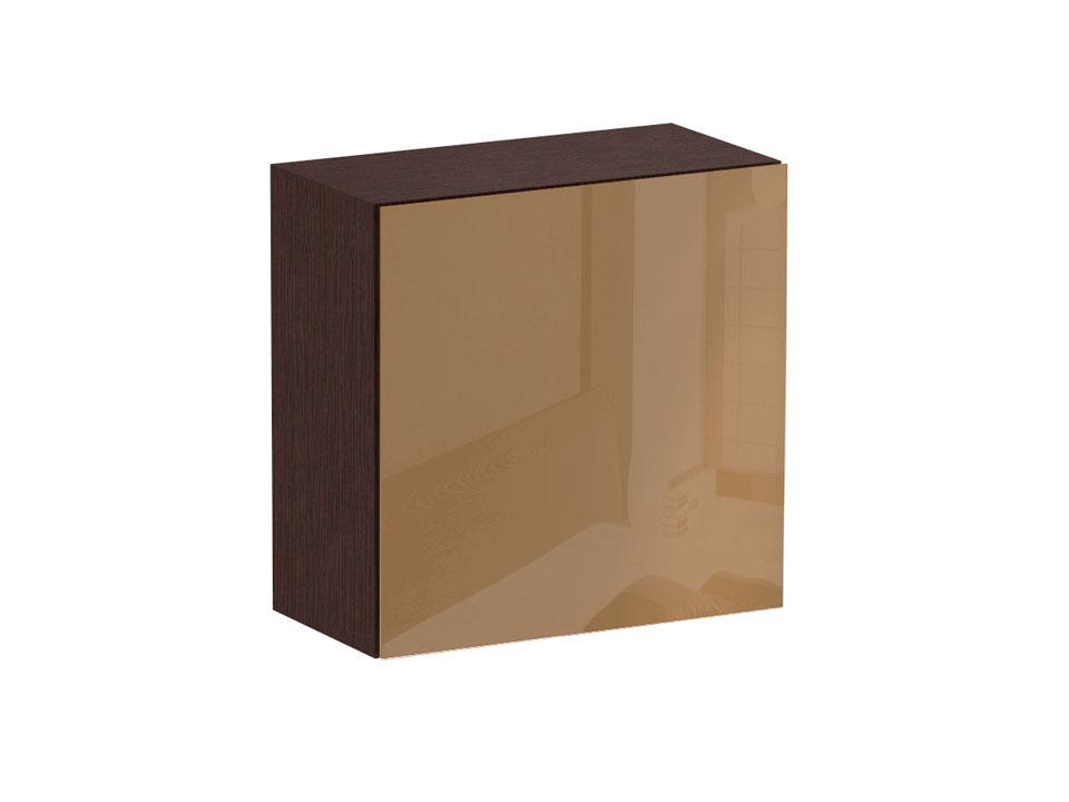 Шкаф CuboШкафы<br>Шкаф-пенал с одним отделением за распашной дверью. Наполнение шкафа - одна полка. В комплекте идут щитовая и стеклянная полки. Дверь открывается по принципу «нажал-открыл». Шкаф крепится к стене.<br>