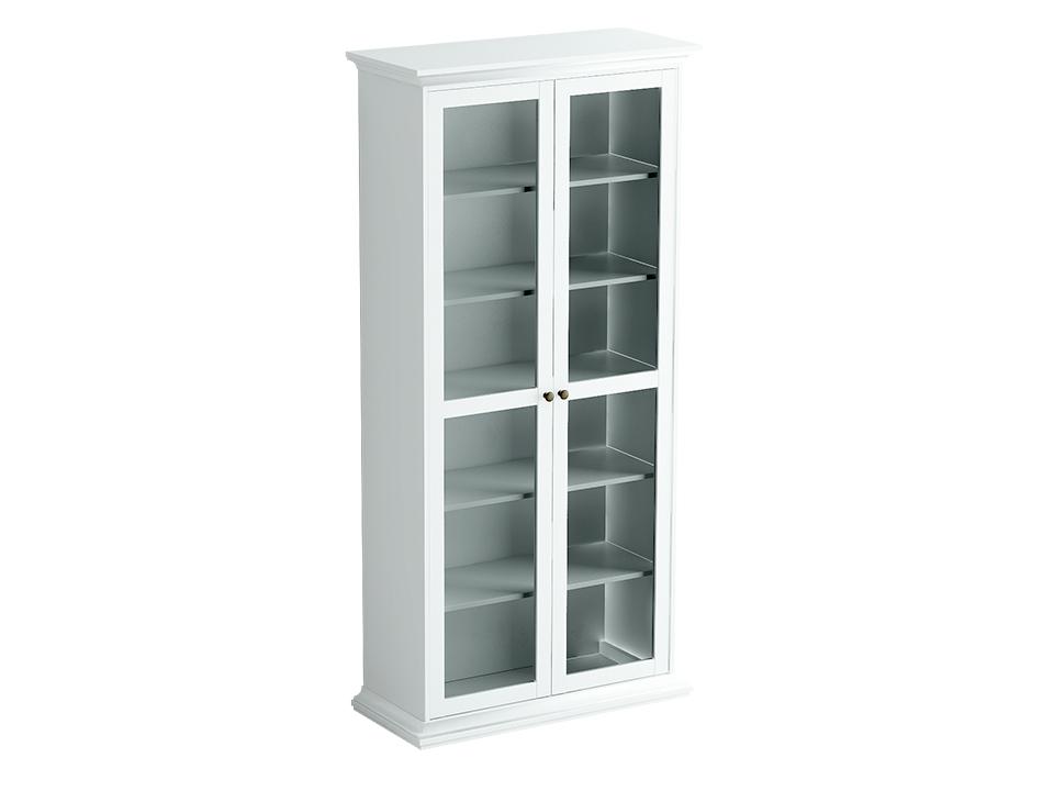 Шкаф двухдверныйШкафы<br>Шкаф состоит из одного отделения за двумя распашными дверцами. Дверцы стеклянные.Внутри расположена одна стационарная и четыре съемные полки для хранения вещей.<br>