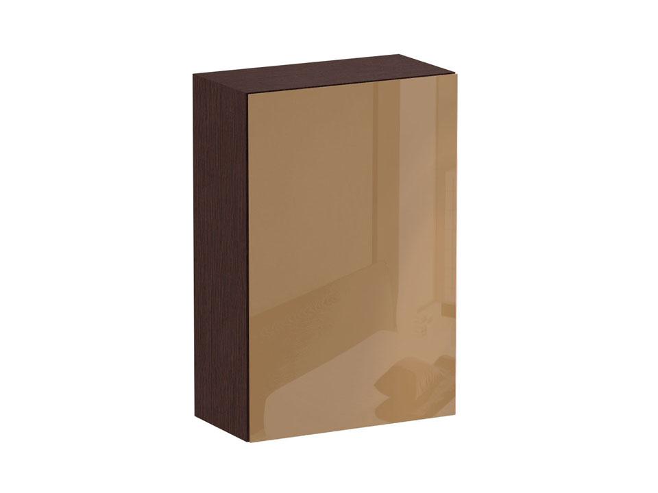 Шкаф CuboШкафы<br>Шкаф с одним отделением за распашной дверью. Наполнение шкафа - две полки. В комплекте идут щитовая и стеклянная полки. Дверь открывается по принципу «нажал-открыл». Шкаф крепится к стене.<br>