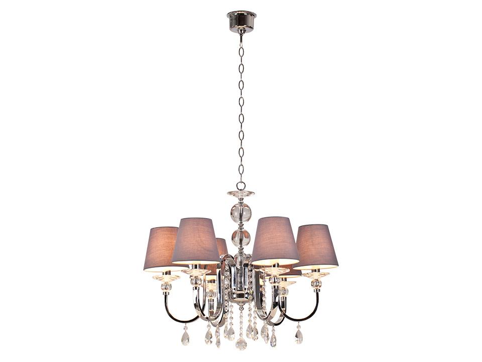 Люстра RomanceСветильники подвесные<br>Люстра 6-рожковая, декорирована стеклянными элементами. Цоколь лампы: E14<br>