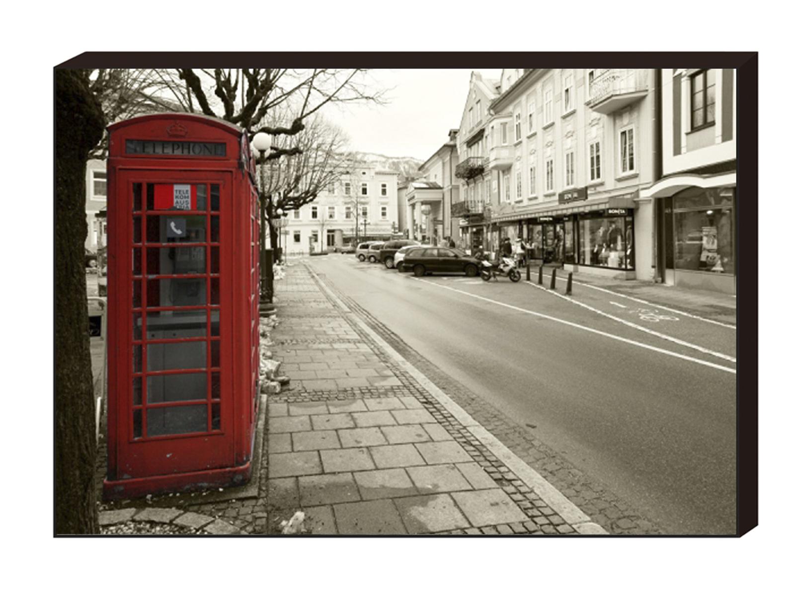 Постер Red telephone box 1, 900х600 A-12882 ОГОГО Обстановочка!
