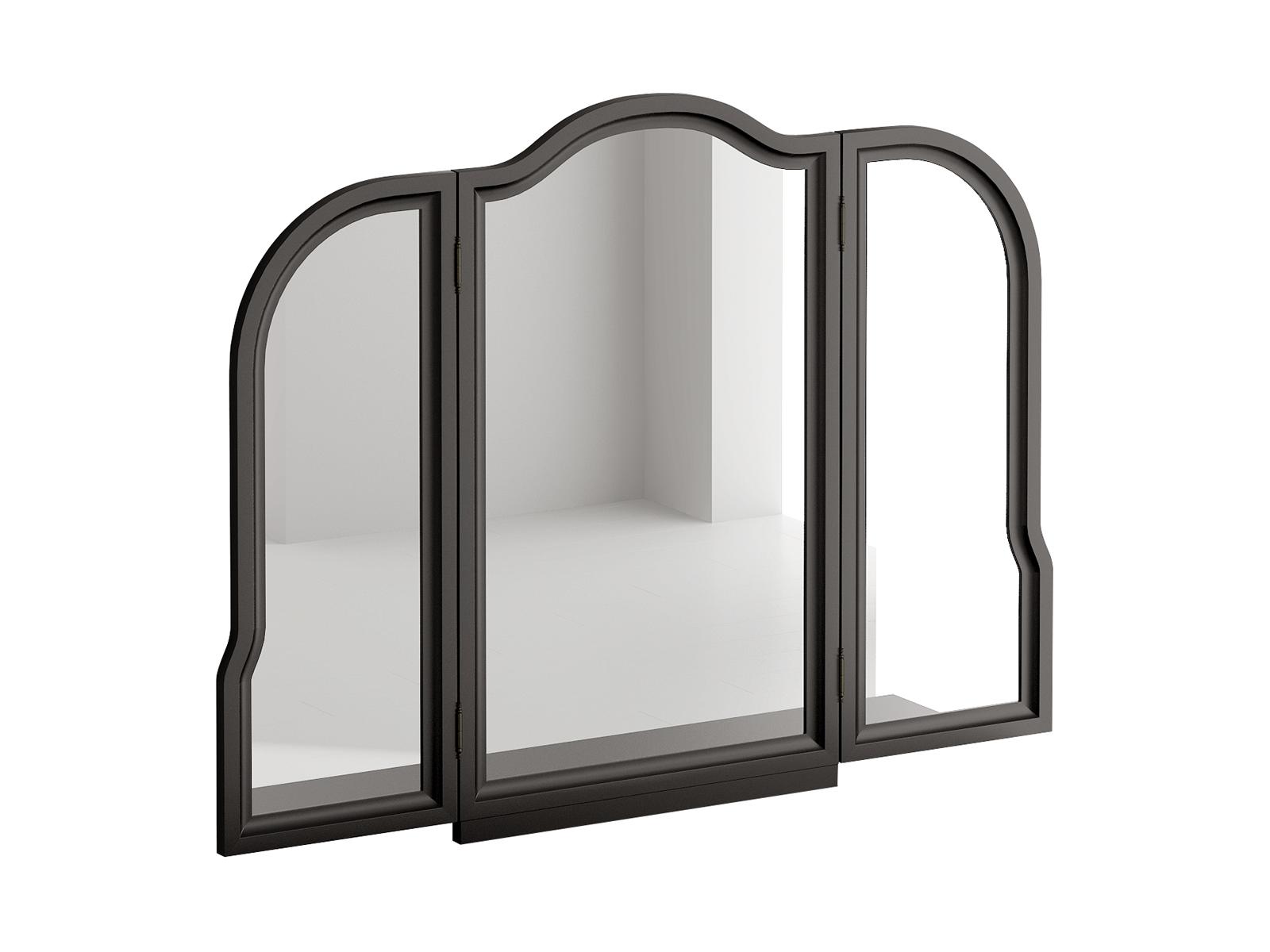Трельяж BluesЗеркала<br>Трельяж Blues представляет собой настенное зеркало с двумя распашными створками. Зеркала фигурные, рамочно-филенчатой конструкции. Трельяж необходимо крепить к стене.<br>