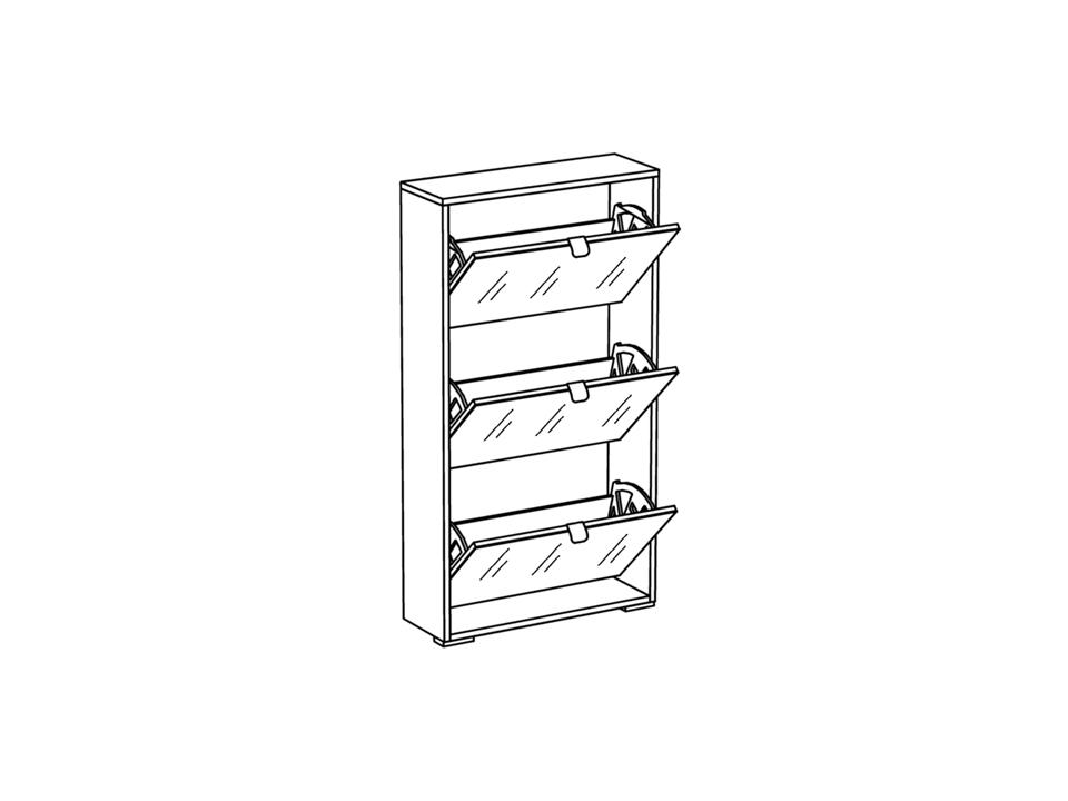 Шкаф для обуви Reggy 3